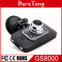 Factory direct Newest design 2.7 inch LCD Full HD 1080P car black box GPS GS8000