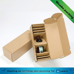 2015 nice creative corruagted olive oil packaging box foldable