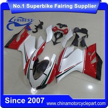 FFKDU005 Motorcycle ABS Fairing For 1199 2013 Pearl White Oem Tricolor