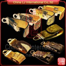 luxury colorful embossed Leather usb pen drive promotional gifts