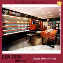 Fashionable basketball shoe store displays