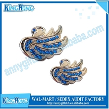 Golf necklace Swan shape diamonds ladies ball marker