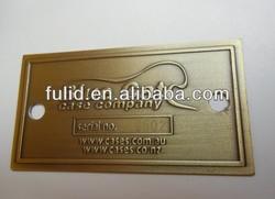 custom cast metal laser engraving nameplate with self adhesive