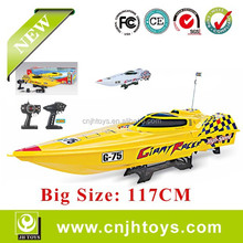 2.4G Big Size 117CM High Speed RC Boat Giant Racer G75 1:12scale RC Mosquito Craft 757T-6030