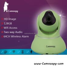 Baby/pet/adult monitor indoor HD 720P pan&tilt two-way audio p2p ip camera
