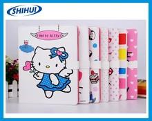 Carton leather case for ipad4/5/6, cheap soft flip case for ipad4/5/6, hello kitty case cover for ipad mini2/3