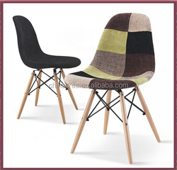 fabric plastic wood leg chair furniture made in China