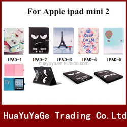 1pcs 3D Pattern Wallet Stand Leather case cover for Apple ipad mini 2