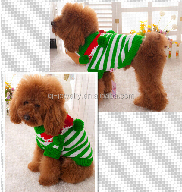 2014 Christmas Pet Clothes Winter Knitting Patterns For Dog Clothes