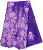 Wholesael purple french lace wedding dress with applique for party clothes