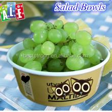 32oz Disposable Paper Bowls with Lids for Fruit