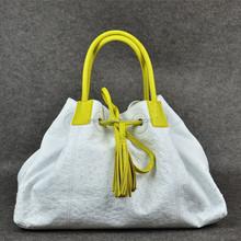 Ostrich leather handbag_exotic handbag_ostrich large tote bag_combination bag