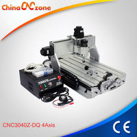 Hot Sales Desktop 3040Z-DQ 4 Axis Machine Wood Carving