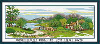 BEAUTIFUL VILLAGE LANDSCAPE DIAMOND FAMILY DIY PAINTING