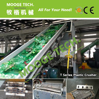 T Cut Wasted Plastic Water Bottle Crushing Machine