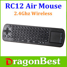 Factory price! rc12 wireless mouse keyboard touchpad function good experience RC12 mini keyboard for media box usd mini keyboard