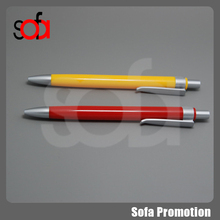 2015 china classical type high quality plastic ballpoint pen with printed logo