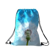 Wholesale Custom Printed Promotional Nature All Print Drawstring Bag