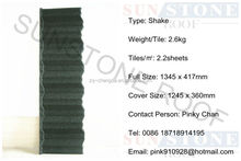 Stone Chip Coated Metal Roof Tile Aluminum Zinc Steel Roof Tile Stone Coated Metal Roofing