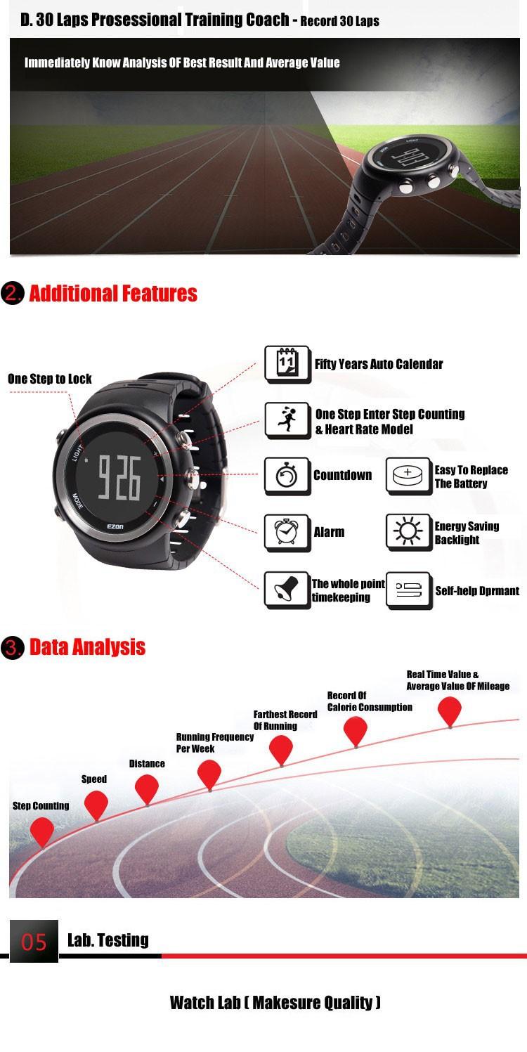 Eaon часы T023B01 мода Шагомер спорт ходьба бег школа смарт-цифровой водонепроницаемые часы многофункциональные наручные часы