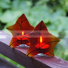 AC044 Red Color Personalised Wedding Decoration Star Shaped Candles