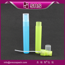 Plastic body spray perfume, fashion colorful plastic 12ml pen spray perfume bottle wholesale