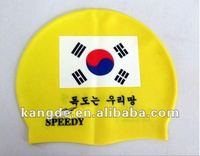 High Quality of 100% Silicon Waterproof Swimming Caps/Hats