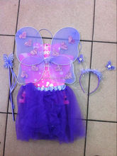 Good promotion girls fairy dresses with wings butterfly wings costume wings QFW-1027