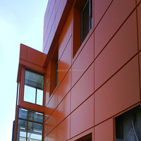 4mm 4*8 ACP exterior decorative material PVDF building decorative facade aluminium composite wall panel