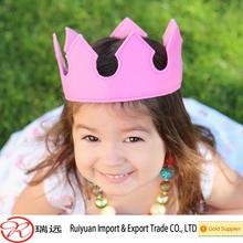 2015 hot sale handmade felt princess crown for Children