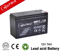 Hot maintenance free rechargeable sealed lead acid battery 12v 7ah