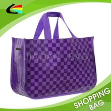 Purple Color Extra Large Reinforced PP Woven Shopping Bag
