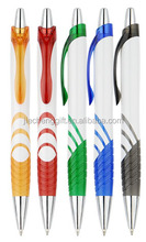 2015 Good Quality Plastic Pen with Logo and Ball Point Pen with click action