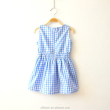 China factory direct price high quality plaid dresses with knitted coat for girls
