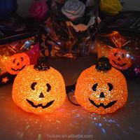 flashing halloween pumpkin/led halloween pumpkin/lighted halloween pumpkins