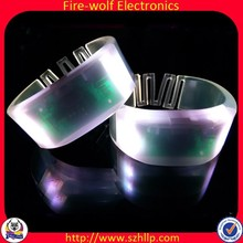 Event /Exhibitions and Concert Motion LED Light wristband Colorful Light Remote Control LED wristband