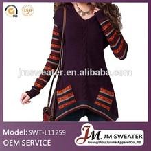 vestido de Cachemira personalizado algodón Jersey mujer