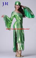Egyptian long hand-made sequins baladi saidi galabeya belly dance dress costume GT-1026#