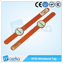 13.56MHz Wristband cards rfid pvc waterproof wristband iso14443a hot spring rfid wrist band