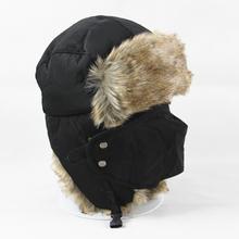 Men Women Winter Trapper Aviator Trooper Earflap Warm Russian Ski Hat With Mask