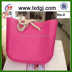 Bag women trend 2015 beach fashion candy color rubber silicone handbags
