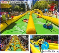 Factory supply giant inflatable water slide / inflatable slide the city for fun/inflatable water slide