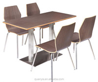 fashionable durable MDF wooden end KFC dining room sets