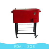 80Qt Patio Deck Ice Chest Cart Cooler/Cooler Cart/Patio Cooler/Rolling