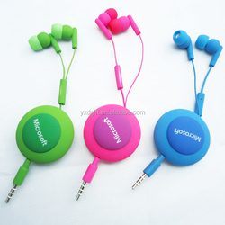 For apple iphone retractable in ear earphones made in China