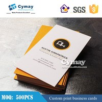 Paper business card printing 300g coated paper with lamination