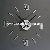 SH- 275 Metal Style DIY Decorative Acrylic Wall Clock Theme