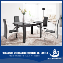 MDF wooden dinning table with high gloss painting modern dinning chair635H