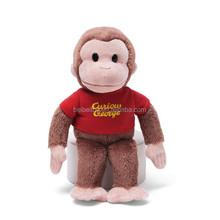 Custom high quality plush stuffed soft toy monkey