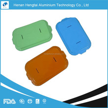 sale high quality airline aluminum foil container with color lids
